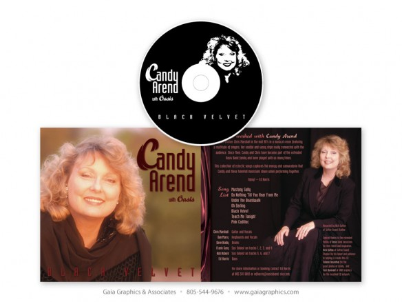 CANDY AREND with Oasis ~ CD and Cover Artwork