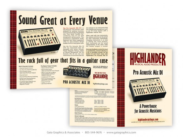 HIGHLANDER MUSICAL AUDIO PRODUCTS ~ Sales Sheet ~ 11