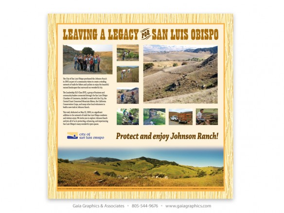CITY of SAN LUIS OBISPO ~ Johnson Ranch Open Space Trails ~ 42