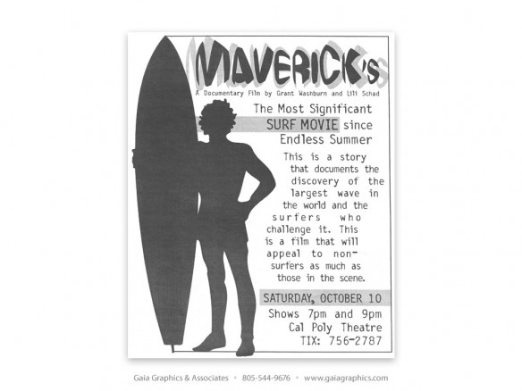 MAVERICKS ~ Surf Movie (New Times ad)