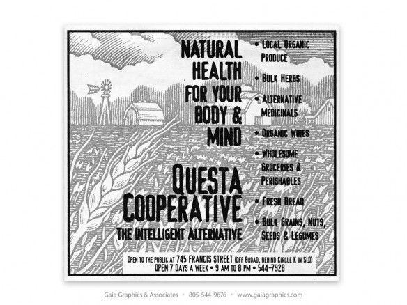 QUESTA COOPERATIVE ~ San Luis Obispo, California (New Times ad)