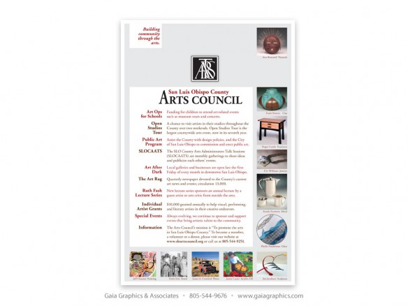 SAN LUIS OBISPO COUNTY ARTS COUNCIL ~ 5.75