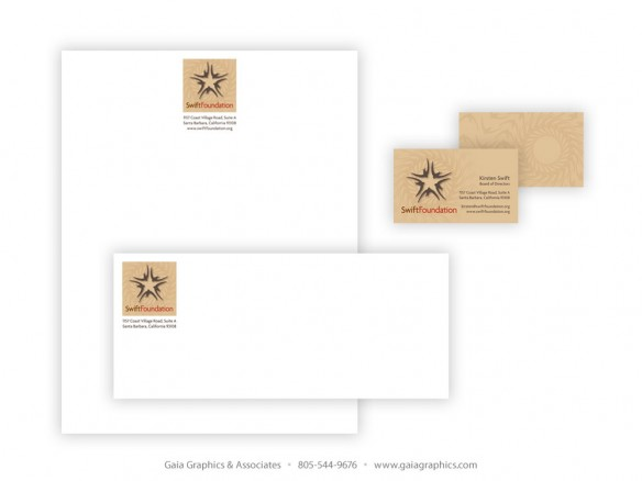 SWIFT FOUNDATION ~ Business Cards, Letterhead and Envelopes