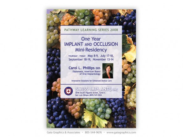 SWISS IMPLANTS/CAROL L. PHILLIPS, DDS ~ Pathway Learning Series 2008 ~ 8.5