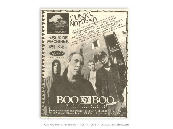 BOO BOO RECORDS ~ San Luis Obispo, California (New Times ad)