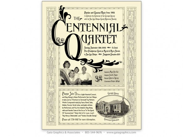 JENNIFER SAYRE ~ Concert for the SLO Carnegie LIbrary's Centennial Celebration