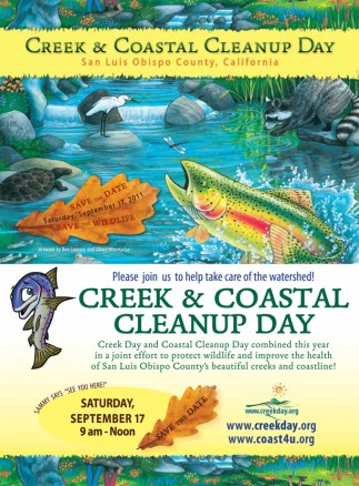 Join Sammy Steelhead and good people from all over San Luis Obispo County to clean creeks and beaches on a beautiful Saturday in September!