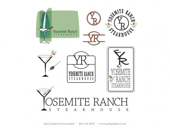 Logo ideas for Yosemite Ranch Steakhouse, a restaurant being developed by the same people who created Tahoe Joe's Steakhouse.