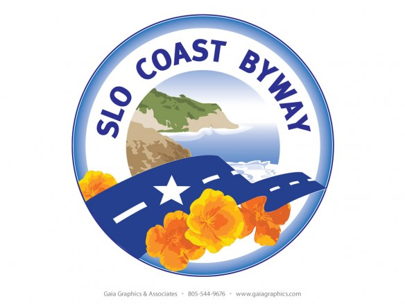 SLO COAST BYWAY ~ This logo will posted with the poppy signs along Highway 1 between San Luis Obispo and the Monterey County line.