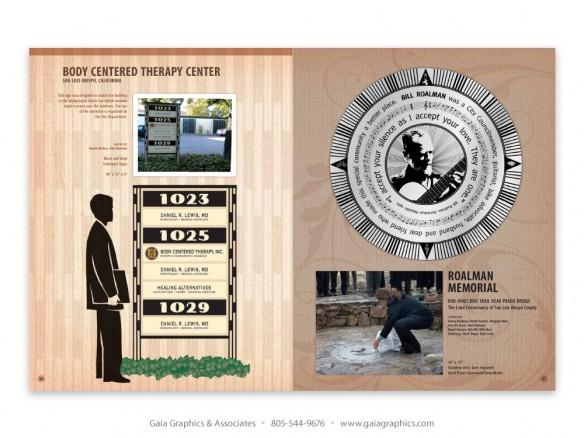 SAN LUIS OBISPO ~ street sign, Bill Roalman Memorial (pp 46-47)